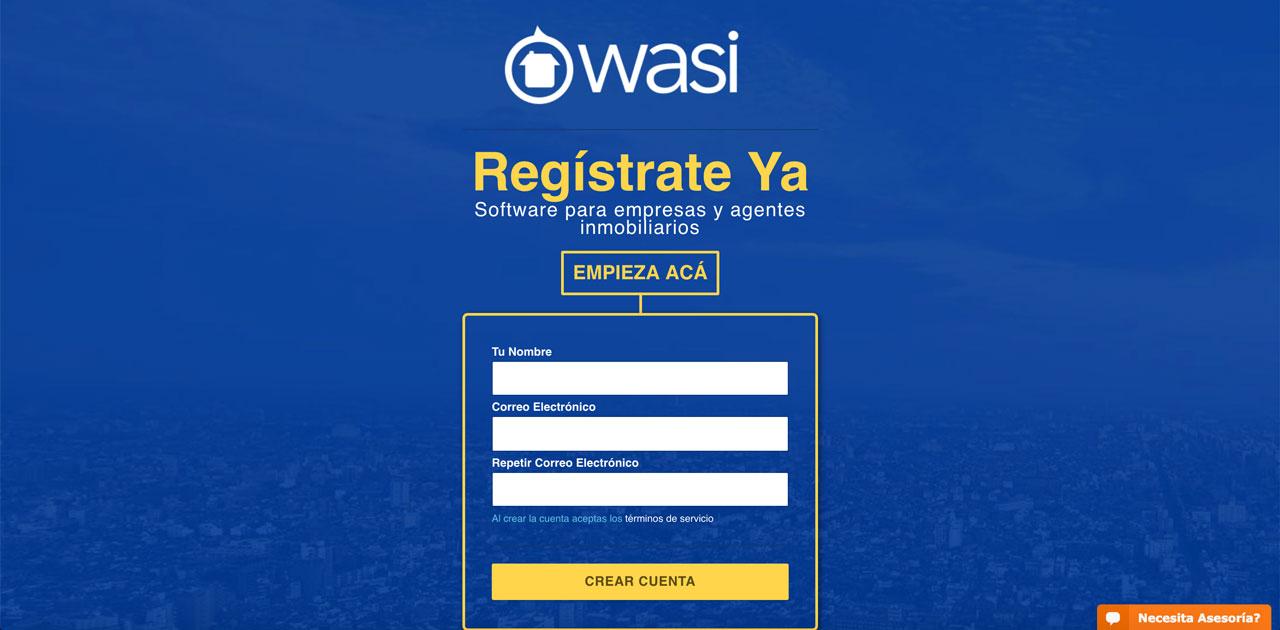Novedades Wasi del mes de febrero de 2019: Registro en dos pasos CRM inmobiliario Wasi