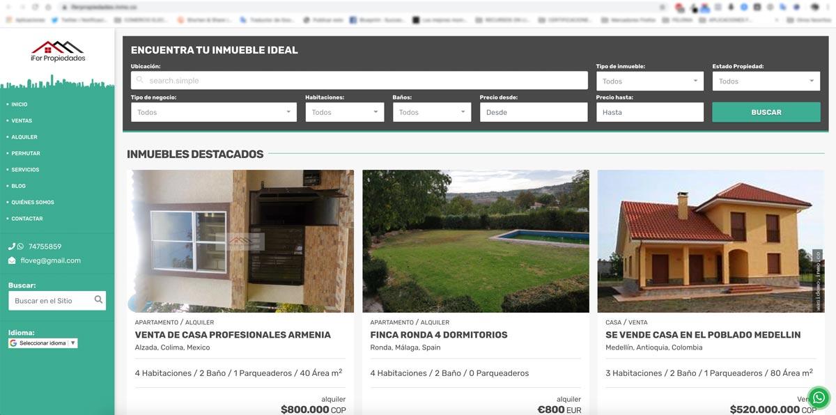 novedades Wasi noviembre - Plantilla Página Web inmobiliaria Valparaiso