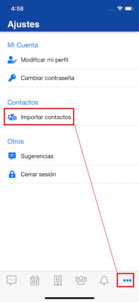 Importa más fácil los contactos del teléfono