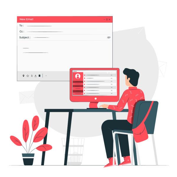 agente ejecuta email marketing inmobiliario