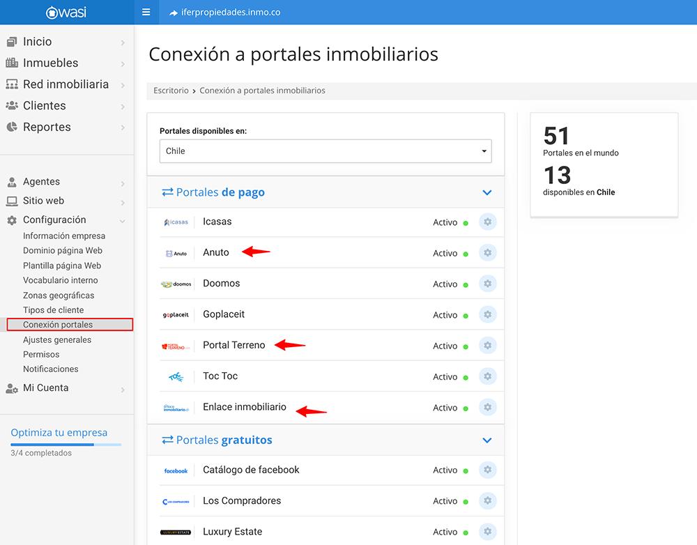 Nuevas conexiones con portales inmobiliarios para Chile